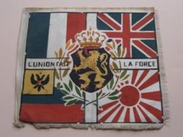 L'UNION FAIT LA FORCE ( WIMPEL / DRAPEAU / FLAG / VLAG - Format +/- 17 X 15 Cm. ) ! - Militari