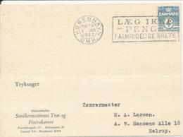 Denmark Printed Matter Card Köbenhavn 2-6-1937 Single Franked - 1913-47 (Christian X)