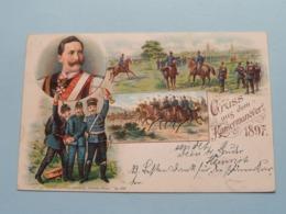 Gruss Aus Dem KAISERMANÖVER ( Heinr. & Aug Brüning Hanau - Dep 6301 ) Anno Stamp 1897 ( See/zie/voir Photo ) ! - Andere Oorlogen