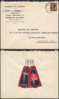 """BELGIQUE COB 402 SUR LETTRE ENTETE PHARMACIE VERSO VIGNETTE """"TONIQUE ROCHE""""(VGVP39) DC-4608 - Other"""