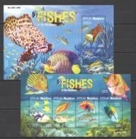 ML101 2015 MALDIVES FAUNA MARINE LIFE FISHES KB+BL MNH - Meereswelt