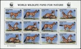 1997, Bhutan, 1687-90 KB ZD, ** - Bhutan