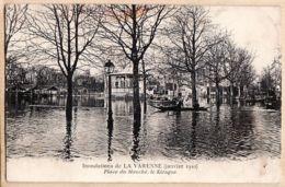 X94006 Lisez 15.08.1914 Montée Front LA VARENNE Val Marne Inondations Janvier 1910 Place MARCHE Kiosque Musique Cpaww1 - France