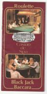 Spa - Casino De Sap - Roulette - Black Jack - Baccara -  ( Belgique ) Liege - Toeristische Brochures