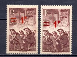 FRANCE LOT DE 2 TIMBRES DE 1941 N 489 NEUF ** - France