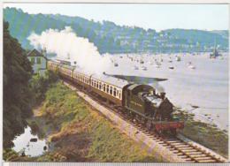 England Uncirculated Postcard - Trains - Torbay And Darthmouth Railway - 2-6-2T No 4588 Alongside Dart Estuary - Trains