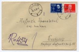 1946 YUGOSLAVIA, SERBIA, KOSOVO, ISTOK TO BELGRADE, TITO, REGISTERED COVER - 1945-1992 Socialist Federal Republic Of Yugoslavia