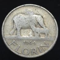Malawi 1 Florin (african Elephants) 1964. Africa Coin Km3 - Korea, South
