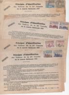 (loterie Nationale) (errinophilie)  Lot De 4 PRINCIPES D'IDENTIFICATION DES TIMBRES (tirages De 1951) (PPP21078) - Erinnophilie