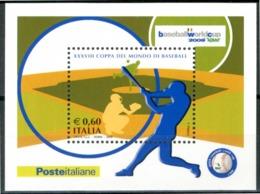 ITALIA / ITALY 2009** - Coppa Del Mondo Di Baseball 2009 - Miniblock MNH, Come Da Scansione. - Baseball