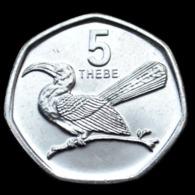 Botswana 5 Thebe 2013. African Animals (Fauna) Birds Coin. UNC. 7-angular Km31 - Botswana
