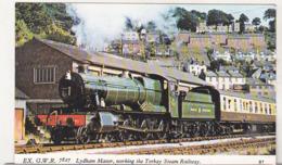 England Uncirculated Postcard - Trains - Ex GWR 7827 Lydham Manor , Working The Tprbay Steam Railway - Trains