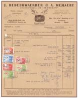 Factuur Facture - Likeurstokerij De Zeemeeuw - J. Dedeurwaerder & A. Wemaere - Oostende 1948 - Alimentaire