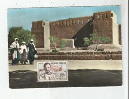 TAMANRASSET (HOGGAR) 31 BORDJ DU R. PERE DE FOUCAULT (CARTE MAXIMUM) - Algerije