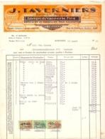 Factuur Facture - Fabrique De Vannerie Fine - J. Taverniers - Bornem 1956 - Ohne Zuordnung