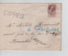 CBPN86/ TP 77 GB S/L.Exprès C.Ransart 15/3/1910(15-16) > BXL C.d'arrivée Télégraphe BXL Porte De Namur 15/3/1910(18-19) - 1905 Barba Grossa
