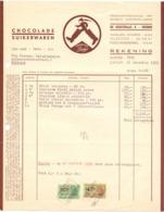 Factuur Facture - Chocolade Suikerwaren Bonbons Dirks - Deurne 1955 - Alimentaire