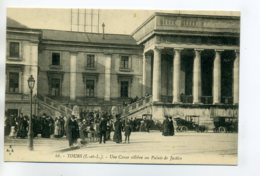 37 TOURS Une Cause Célebre Au Palais De Justice Belle Animation écrite Bers 1910   /D03-2017 - Tours
