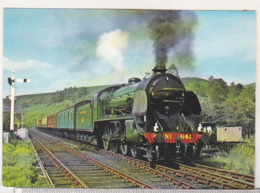 England Circulated Postcard - Trains - Southern Railway S15 Class 4-6-0 No 841 Greene King At Levisham Station - Trains