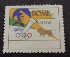 1960 ROMA ROME KENYA AFRICA AFRIQUE OLIMPIADI  OLIMPIQUE   ERINNOFILO  ERINNOPHILIE    Envelope CINDERELLA - Sommer 1960: Rom