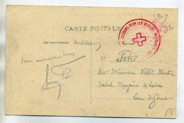 34 MONTPELLIER Cachet MILITAIRE Croix Rouge Secours Pour Les Blessés    /D04-2017 - Montpellier