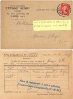 CONVOYEUR  LONGUEVILLE A PROVINS TàD 1-12-27 POTHION 2597 T III ALLER  Sur CP COMMERCIALE - Poste Ferroviaire