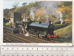 England Uncirculated Postcard - Trains - North Yorkshire Moors Railway - Q6 0-8-0 At Goathland - Trains