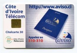 Telecarte °_ Côte Ivoire-CIT.Aviso.ci-gem-Citel 30- R/V 0786 - Côte D'Ivoire