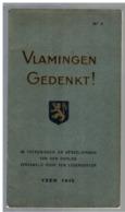 JM15.11 / DOCUMENT HISTORIQUE / VLAMINGEN GEDENKT - YSER 1915  / 46 PAGES-PHOTOS - Documenti Storici