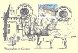 19] Corrèze CPM De ARNAC-POMPADOUR  Carte  1er Jour Le 10 Juillet 1999 Présentation Etalons Haras National-Voir Etat - Arnac Pompadour