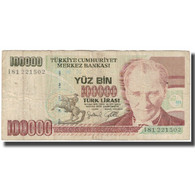 Billet, Turquie, 100,000 Lira, 1970, KM:205, B+ - Türkei