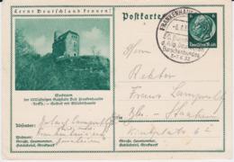 DR 3 Reich Ganzsache P 221 Bildpostkarte Frankenhausen SSt 1933 - Allemagne