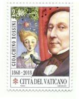 2018 - Vaticano 1813 Morte Di Gioacchino Rossini - Celebrità