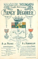 NANCY Décorée - Blason De La Ville,carte Souvenir. - Nancy