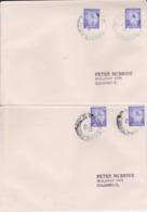 SRI LANKA CEYLON CEYLAN Lot 2 Enveloppes Kandy + Galle TPO 2003 Travelling Post Office Railway Cachet Poste Ferroviaire - Sri Lanka (Ceilán) (1948-...)