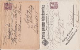 Österreich Austria 2 X Privatganzsache PU 3 H Wien Ua Perle 1911-14 - Entiers Postaux