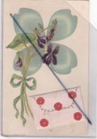 Belle Carte Fleur Et Ruban; Avec Ajout ,petite Enveloppe Avec Message (carte Gaufrée ) - Dreh- Und Zugkarten