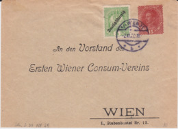 Österreich Austria Privatganzsache PU 15 H ZF Konsum Wien 1920 - Entiers Postaux