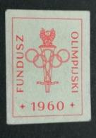 1960 ROMA FUNDUSZ  OLIMPIJSKI POLSKI    OLIMPIQUE   ERINNOFILO  ERINNOPHILIE    Envelope CINDERELLA - Sommer 1960: Rom