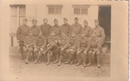 Rare Carte Photo Groupe De Soldats Souvenir De Guerre 3 Novembre 1939 - 1939-45