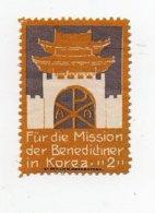 Erinnophilie Vignette Für Die Mission Der Benedictiner In Korea Corée - Cinderellas