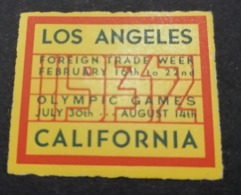 1932 LOS ANGELES  CALIFORNIA  GAMES OLIMPIJSKI OLIMPIQUE   ERINNOFILO  ERINNOPHILIE    Envelope CINDERELLA - Sommer 1932: Los Angeles