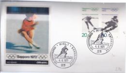 AK-div.32- 60007 - Kiel    -  Ersttag - Olympiamarken 1971l    - , Stpl Vom 4,6,1971- Sapporo 1972 - BRD