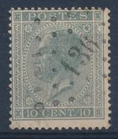 "BELGIE - OBP Nr 17A V5 (LUPPI) - Gest./obl. P136  ""FRASNES"" - (ref. ST 1231) - 1865-1866 Profil Gauche"