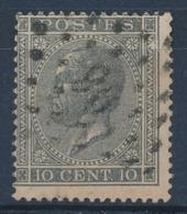 """BELGIE - OBP Nr 17A V5 (LUPPI) - Gest./obl. P96  """"DINANT"""" - (ref. ST 1233) - 1865-1866 Profile Left"""