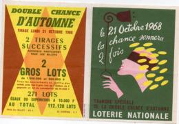 (loterie Nationale) Petite Publicité Pour La Tranche Spéciale De La,double Chance D'automne1968 (PPP21083) - Publicités