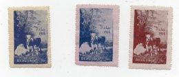 Erinnophilie Vignette Concours Agricole Beauvais 1914 Les 3 Vignettes - Erinofilia