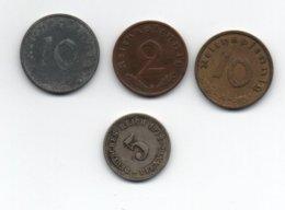 Petit Lot Monnaie Deutsches Reichspfenning.5 Deutsches Reich 1912...10 Reichspfennig 1939 Et 1943...2 Reichspfennig 1938 - [ 4] 1933-1945 : Tercer Reich