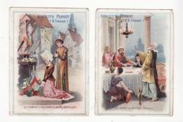 BISCUITS PERNOT   Lot De 2   Les Flambeaux Fixés Devant Les Images Saintes, La Lampe De Moïse - Pernot