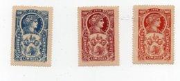 Erinnophilie Vignette Concours Agricole Limoges Juin 1907 Les 3 Vignettes - Erinofilia